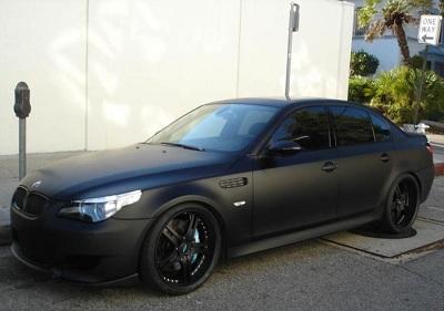 Цвет машины чёрный матовый