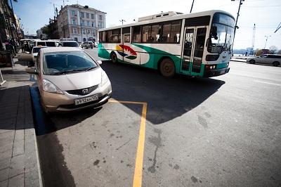 Парковка автомобиля в неположенном месте