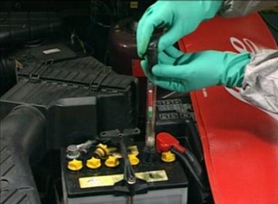 Процесс приготовления электролита для аккумулятора