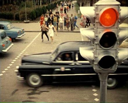 Старый светофор в СССР