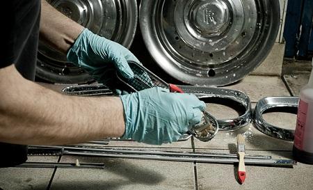 vosstanovlenie hromirovannye detali - Восстановление хромированных деталей автомобиля в домашних условиях