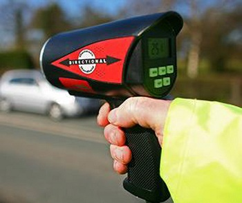 Радар для замера скорости автомобиля ДПС