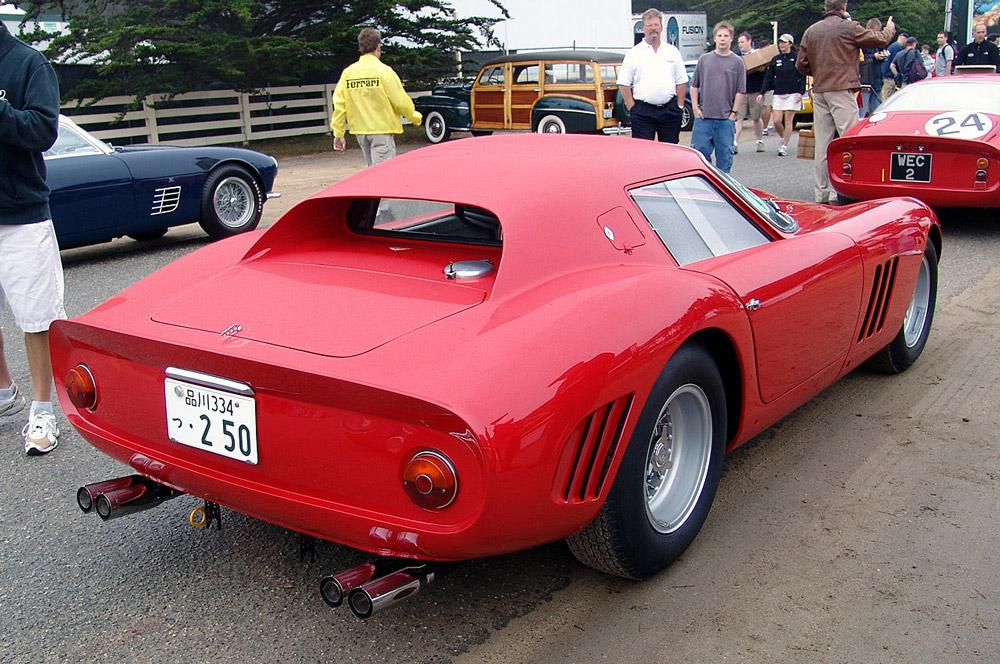 Ferrari GTO 250 - вид сзади