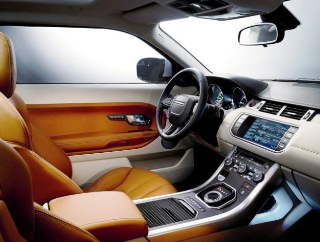 Красивый и функциональный салон Range Rover Evoque