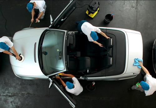 Химчистка автомобиля в салоне