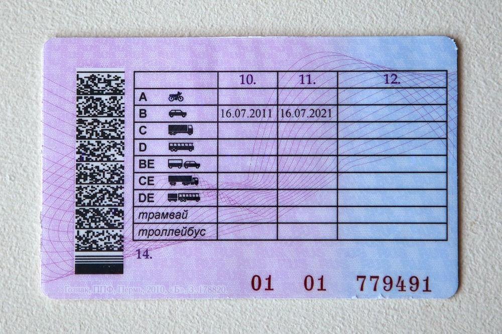 Виды категорий водительских прав
