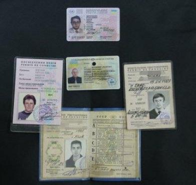 Примеры водительских удостоверений разных времен
