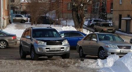 Один из вариантов правильной парковки