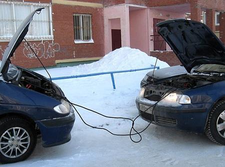 Зарядка АКБ от аккумулятора другого авто