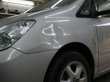 Деформация кузова автомобиля