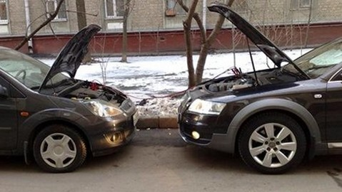 Зарядка АКБ от другого автомобиля