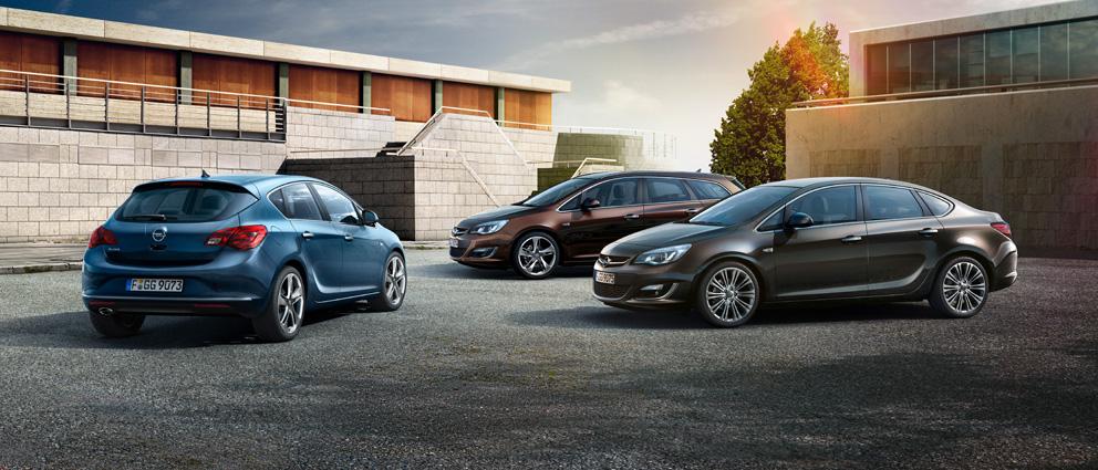 Модельный ряд Opel Astra