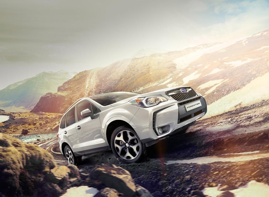 Subaru Forester вид сбоку