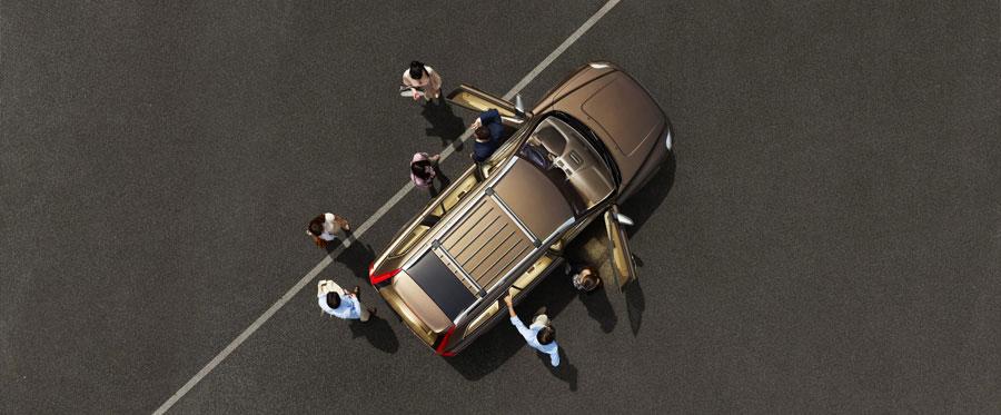 Volvo XC90: вид сверху
