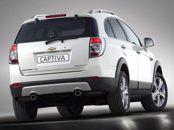 Chevrolet Captiva — вид сзади