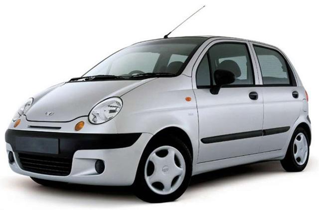 Стильный Daewoo Matiz цвета металлик