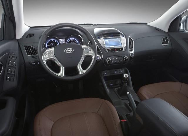 Салон автомобиля Hyundai ix35