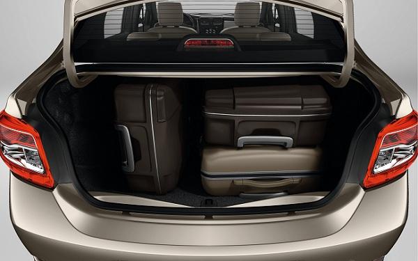 Багажное отделение Renault Logan