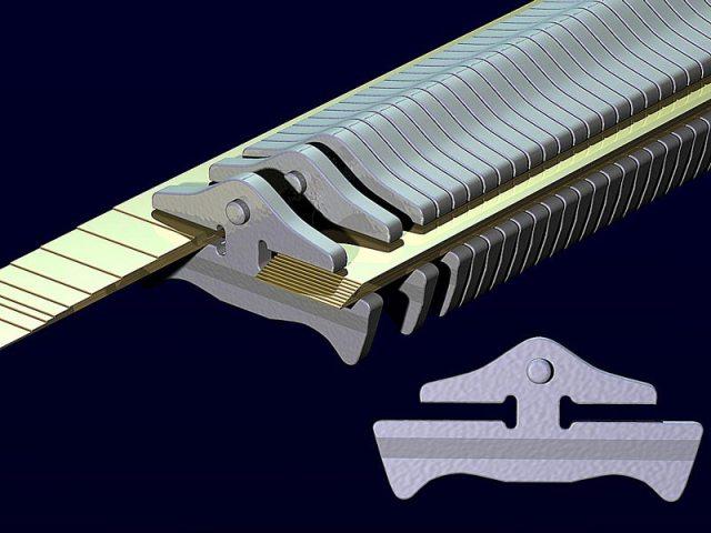 Модель металлического клиновидного ремня