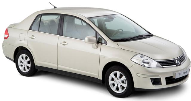 Элегантный внешний вид автомобиля Nissan Tiida