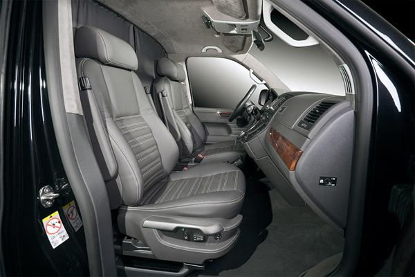 Место водителя и пассажира в Volkswagen Multivan