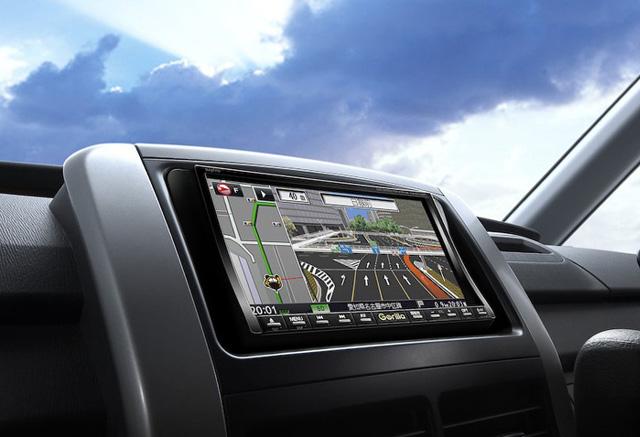 Навигатор, встроенный в приборную панель авто