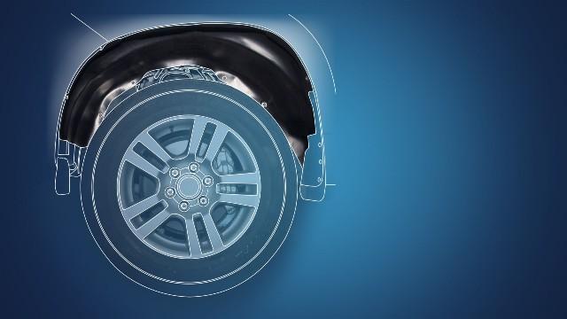 Схема установки защиты колесных арок