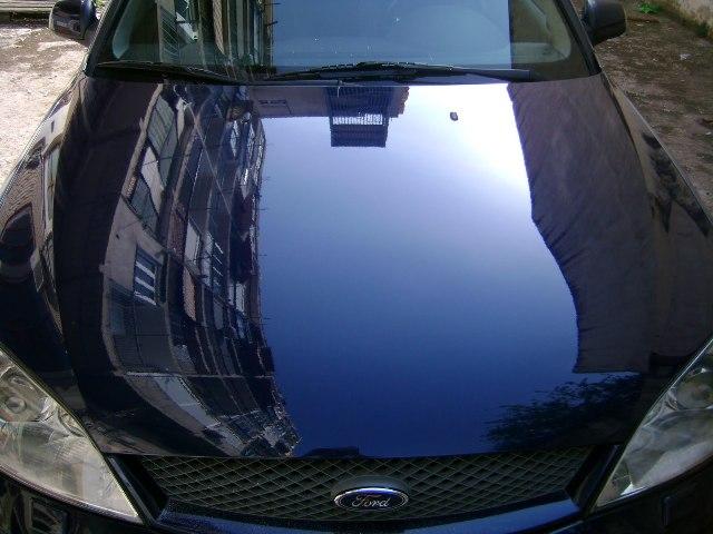 Результат абразивной полировки автомобиля