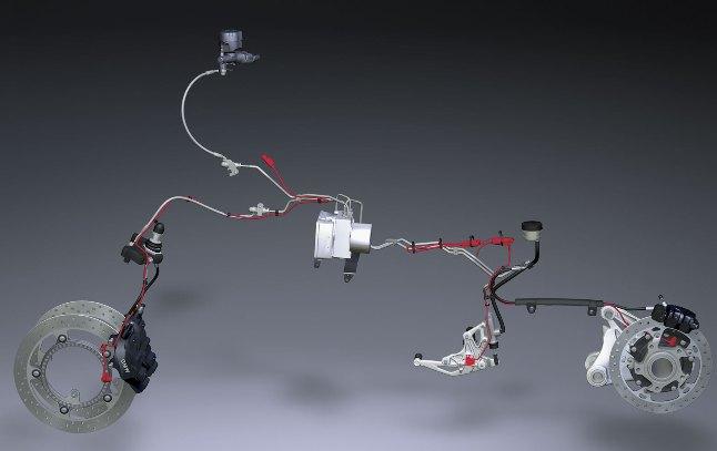 Антиблокировочная система торможения мотоциклов