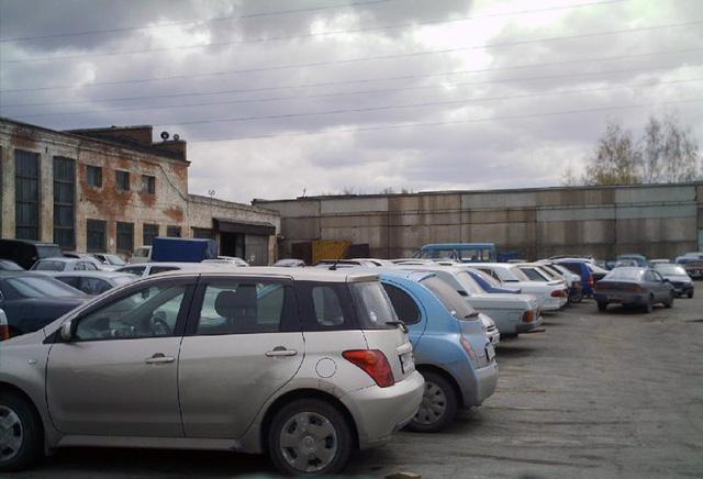 Автомобили на штрафстоянке
