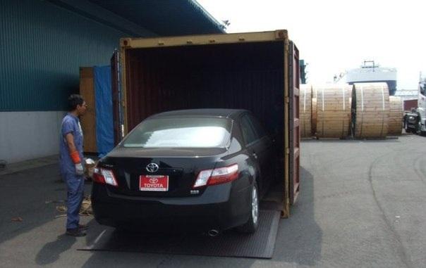 Перевозка автомобиля в контейнере