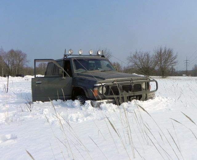 Засыпаем автомобиль снегом