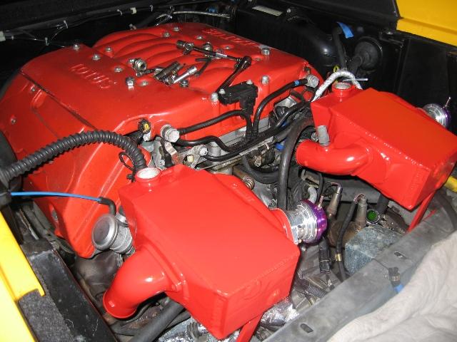 Промежуточное охлаждение мотора с турбонаддувом