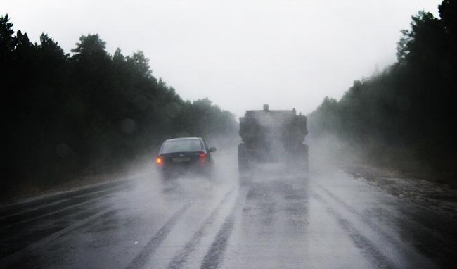 Обгон в условиях плохой видимости может привести к лобовому столкновению