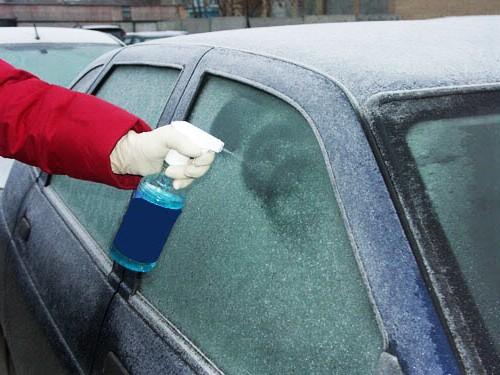 Применение зимней автохимии для очистки стекла