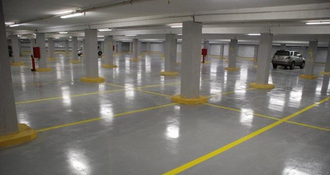 Платная подземная парковка с видеонаблюдением
