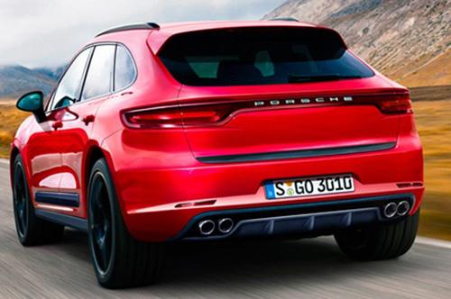 Porsche Macan — вид сзади