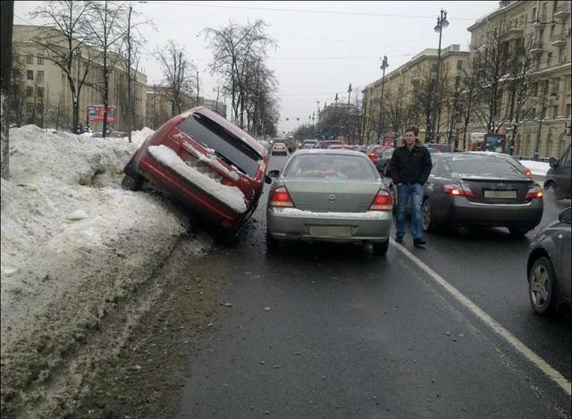 Последствия обгона на скользкой дороге