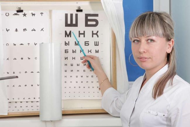 Осмотр у врача-офтальмолога