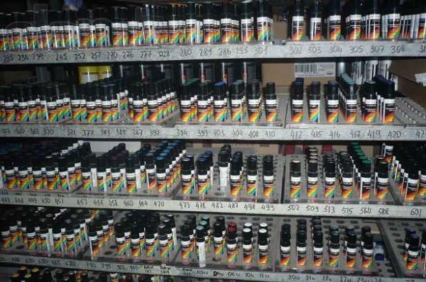 Ассортимент реставрационных карандашей разных цветов
