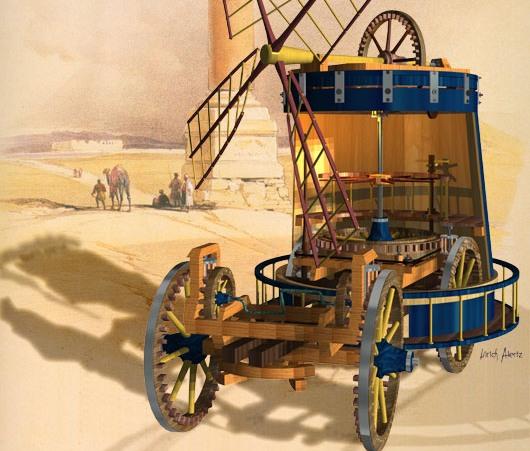 Первое транспортное средство — самоходная тележка Гвидо да Виджевано