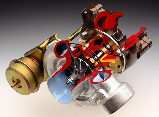 3D-модель турбокомпрессора в разрезе