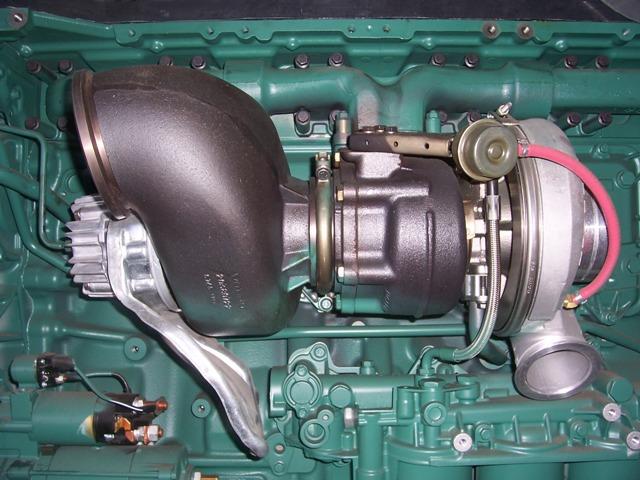 Автомобиль с установленным турбокомпрессором