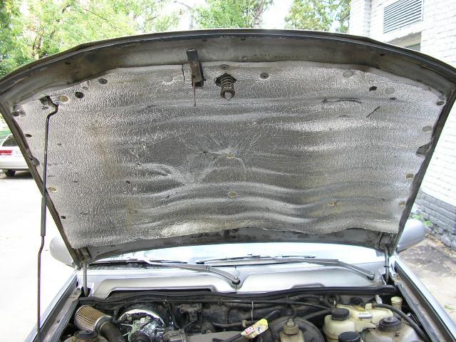 Утеплённый капот автомобиля