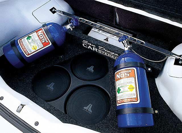 Закись азота в багажнике автомобиля