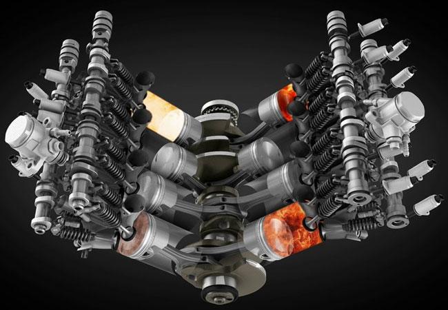 Бензиновый двигатель с двойным турбонаддувом