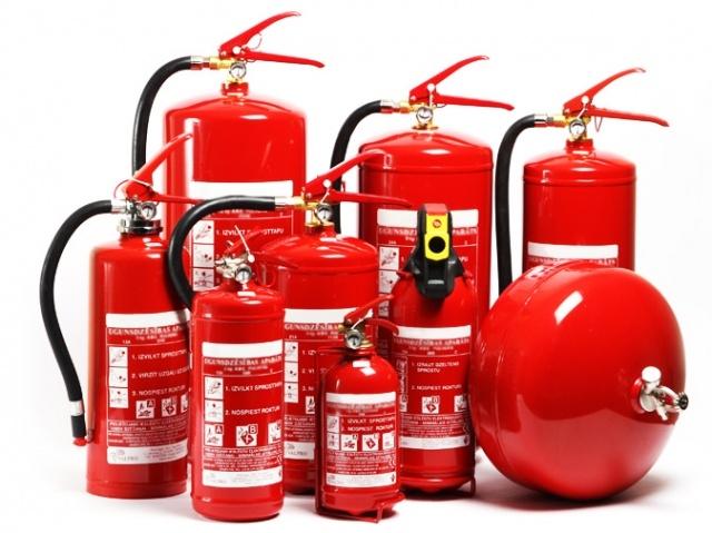 Различные виды огнетушителей