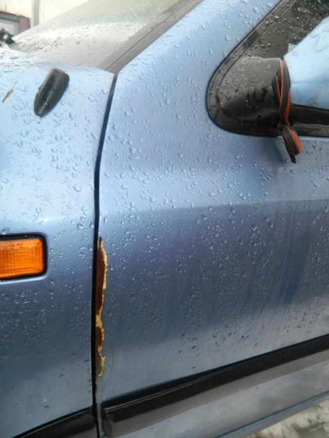 Следы ржавчины на автомобиле