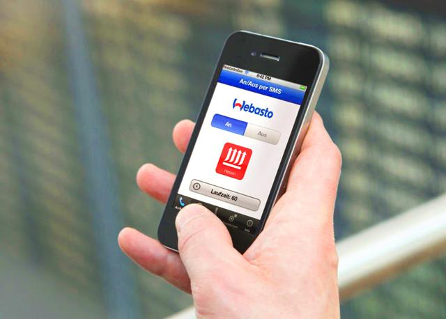 Активация Webasto при помощи мобильного телефона