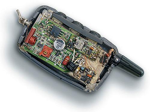 Код-граббер в брелке от автосигнализации
